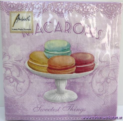 SE AM Servietten Macarons rose/flieder
