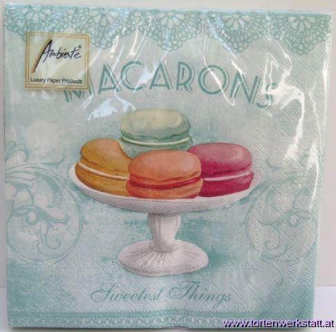 SE AM Servietten Macarons aqua