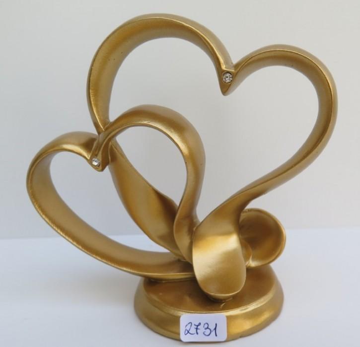 FI LO Aufsatz Verschlungenes Herz gold