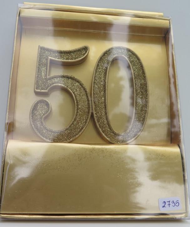 """FI LO Aufsatz """"GOLDENE 50"""" zum Einstecken"""