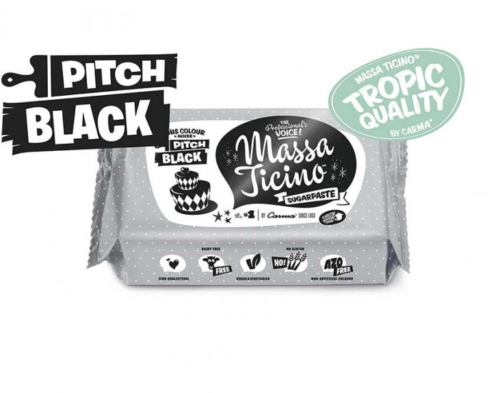 FM CA Fondantmasse Massa ticino pitch black 250g