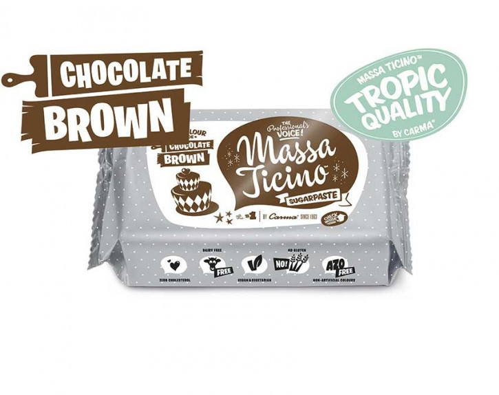 FM CA Fondantmasse Massa ticino chocolate brown 250g