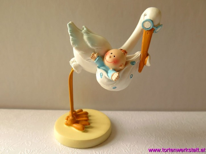 FI HF Storch mit Baby Boy 11cm