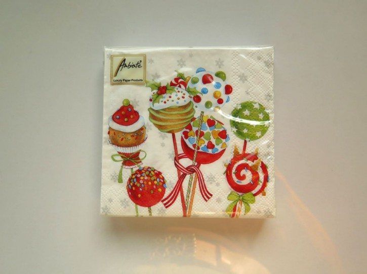 BS AM Servietten Cake Pops 25x25cm