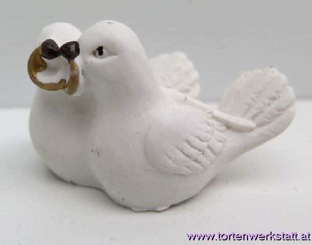 FI HF Taubenpaar mit Ringe 3cm
