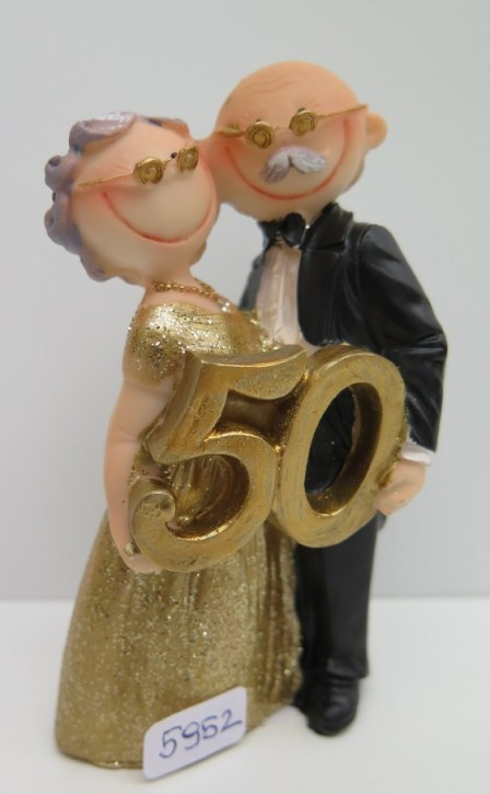 FI US Goldpaar Smile mit Zahl 50