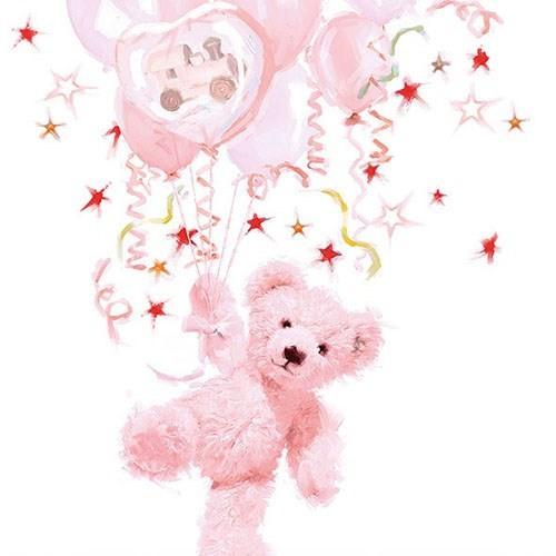 SE AM Servietten Baby Teddy rose