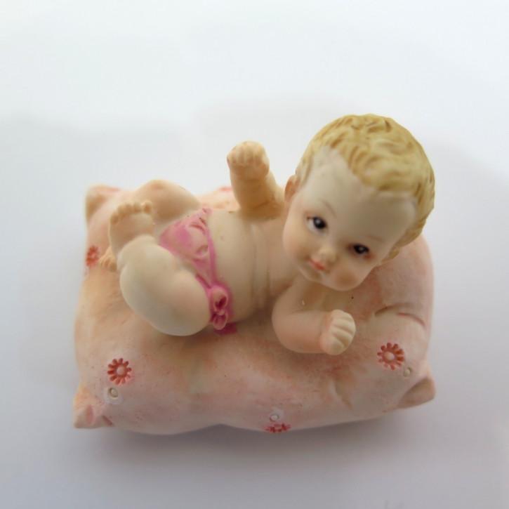 FI LO Baby auf Poster rosa C Rückenlage