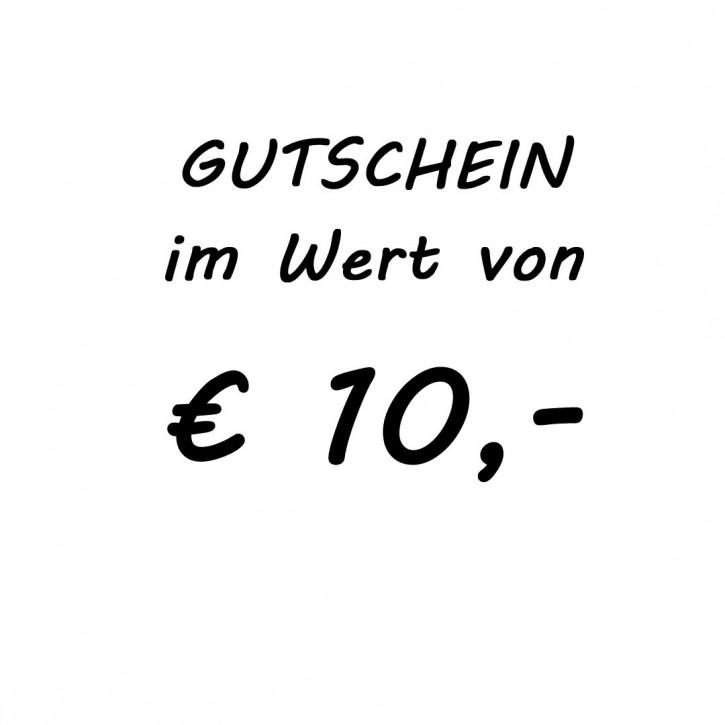 Gutschein im Wert von EUR 10,-