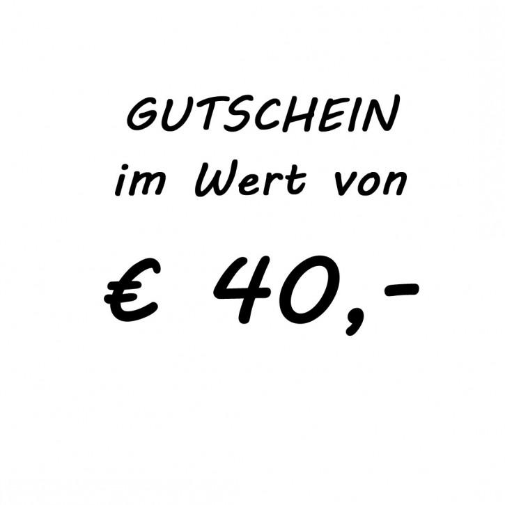Gutschein im Wert von EUR 40,-