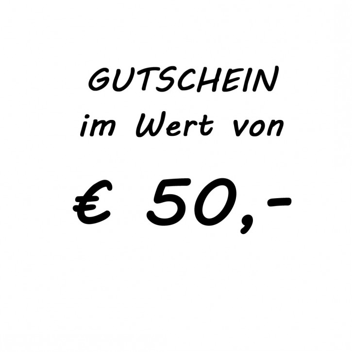 Gutschein im Wert von EUR 50,-