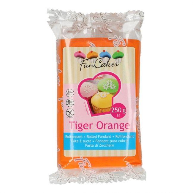 FM FC Fondantmasse 250g tiger orange