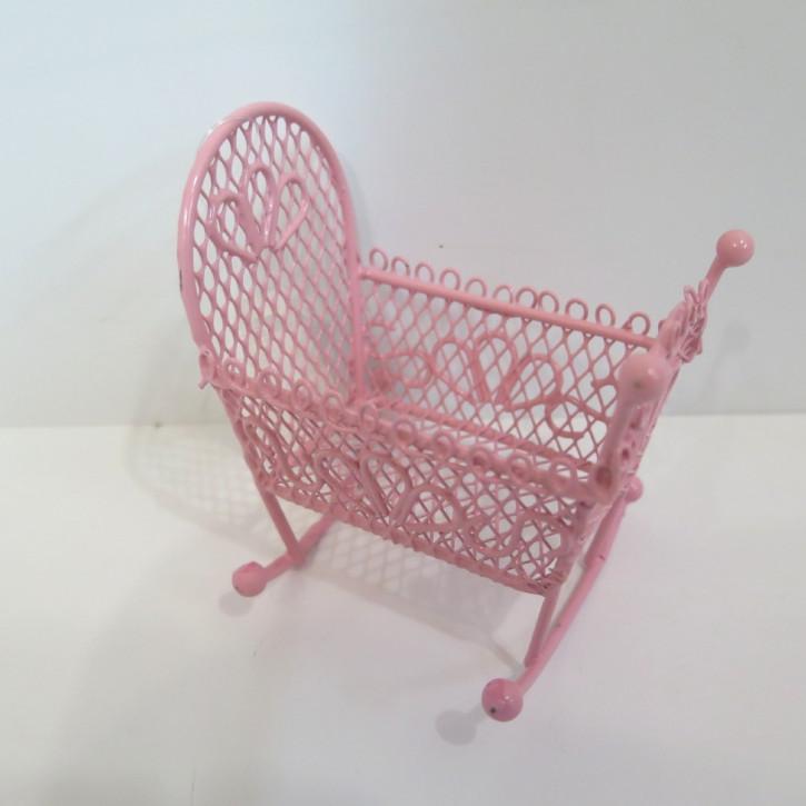 FI HF Deko-Figur Wiege rosa 9cm