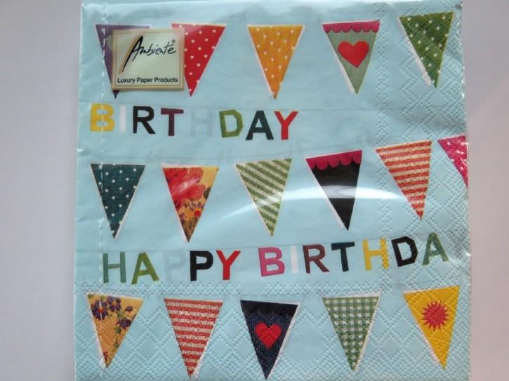 BS AM Servietten Jubilo Birthday Wimpel