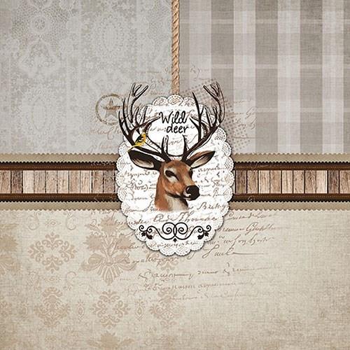 BS AM Servietten Wild Deer Bordüre