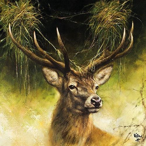 BS AM Servietten Proud Deer