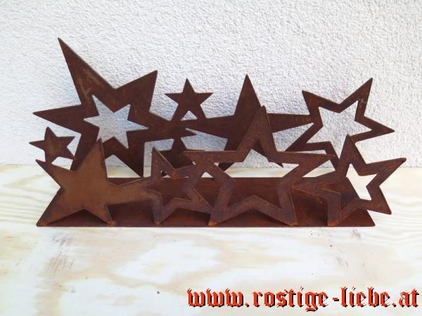 RL SR Edelrost Deko Platte mit Sternenstreifen