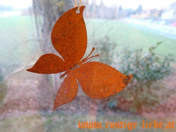 RL AS Edelrost Dekoartikel Schmetterling