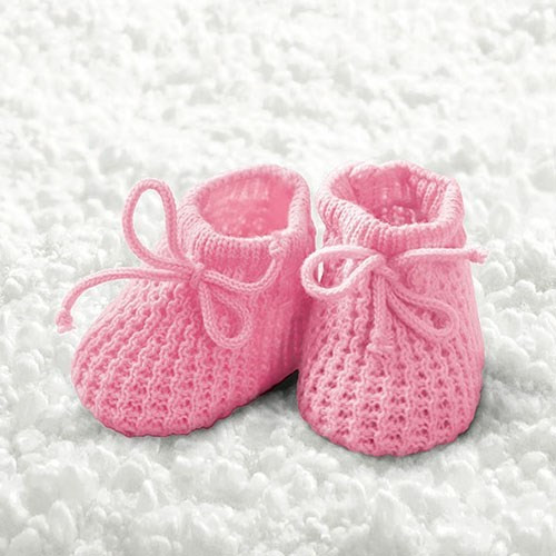 BS AM Servietten Baby Girl Booties