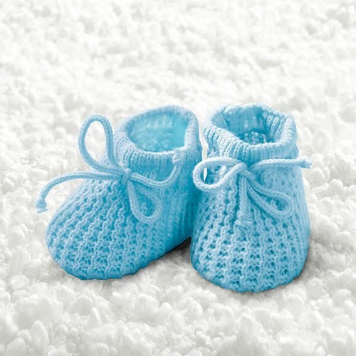 BS AM Servietten Baby Boy Booties