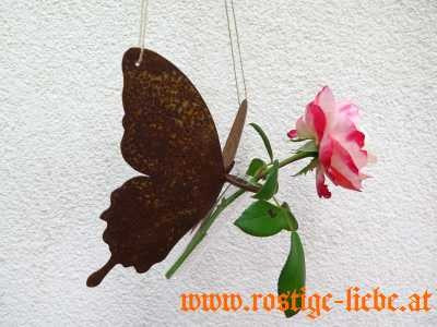 RL SR Edelrost Schmetterling zum Hängen mit Reagenzglas