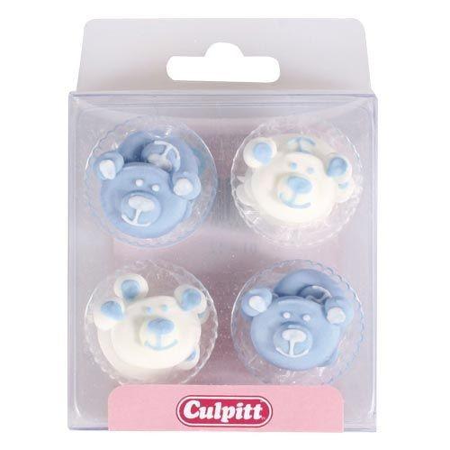 ZU CU Zuckerdekoration Babybären blau pk/12