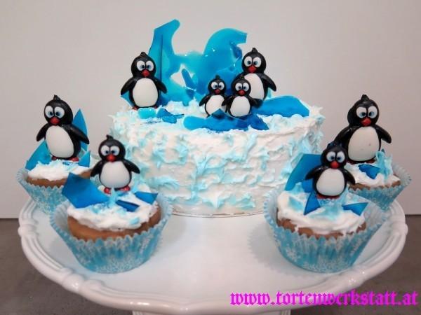 Pinguine am Eis