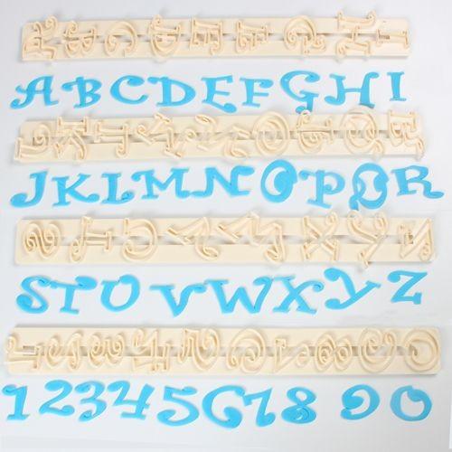Ausstecher  Funky Blockschrift 2cm