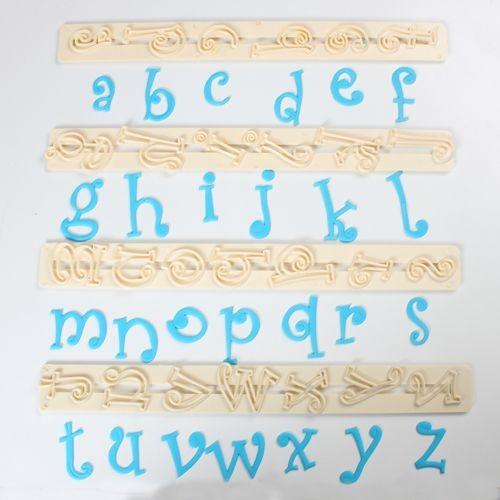 Ausstecher Alphabet Kleinbuchstaben Funky 3cm