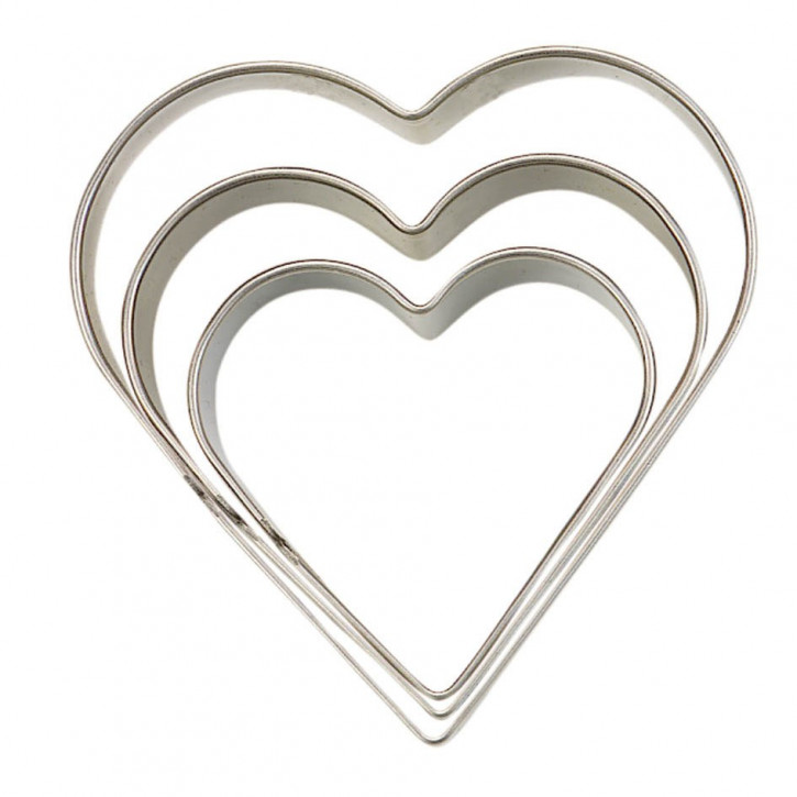 Ausstecher Herz 3,4,5cm