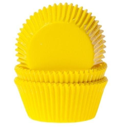 Papierbackförmchen Yellow pk/50