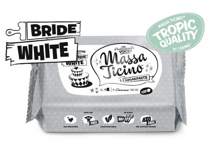 Fondantmasse Massa ticino bride white weiß 1kg