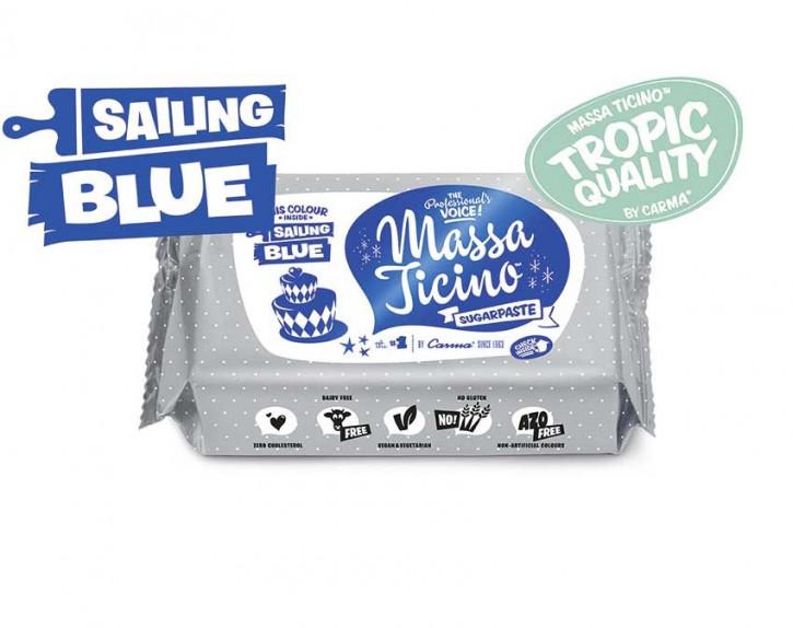 Fondantmasse Massa ticino sailing blue blau 250g