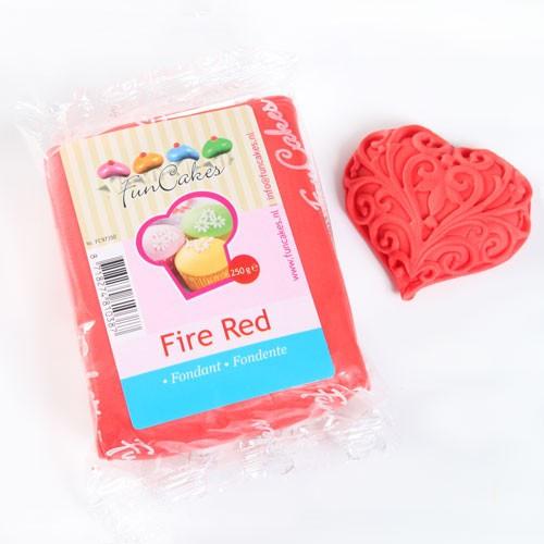 Fondantmasse 250g fire red feuerrot