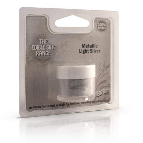Puderfarbe Metallic Light Silver