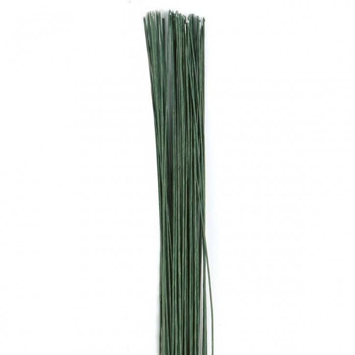 Draht für Blüten 24 grün 50pc