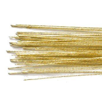 Draht für Blüten 24 gold 50pc
