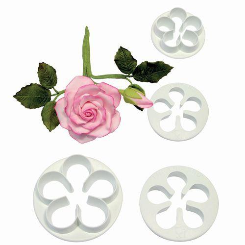 Ausstecher 5 Petal Rose 4er SMALL