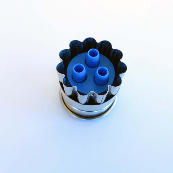 Auswerfer Linzer 3-Loch 3,6cm gewellt