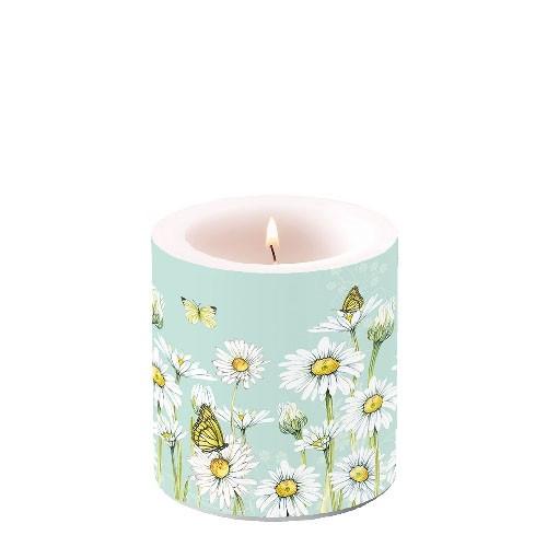 Kerze small Daisy green