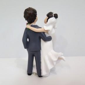 Figur Brautpaar mit Wellenkleid groß