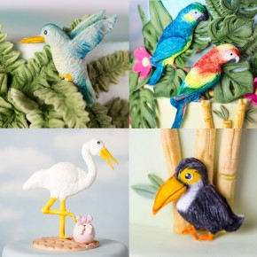 Silikonform Tropical Birds